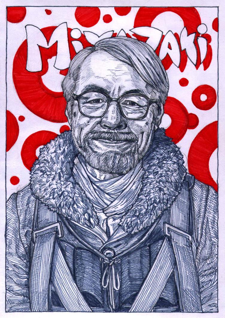 Hayao Miyazaki by WolfMagnum