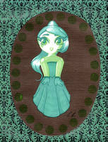 Green Chibi by Terrathefox