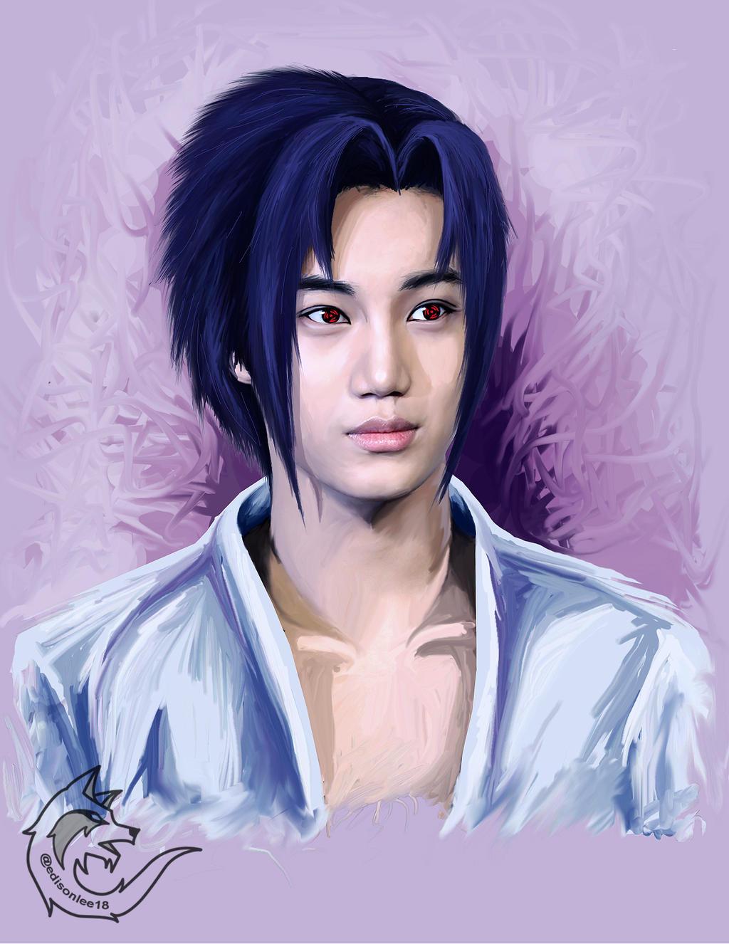 EXO Kai as Sasuke by Edisonlee18 on DeviantArt