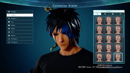 Jump Force Character- Male Face by DJHermo