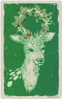 christmas deer by ya-na