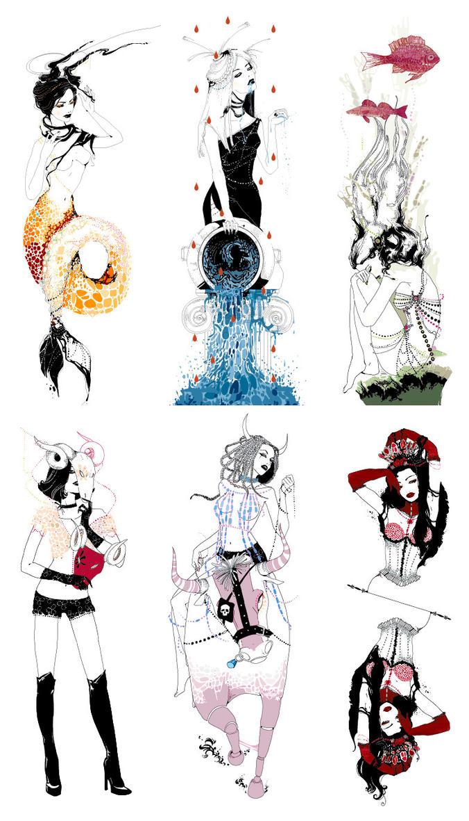 It is an image of Juicy Drawing Of Zodiac Signs