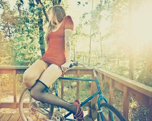 rachel and her bike by keyamo