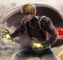 Genos One Punch Man by nicolascelayes