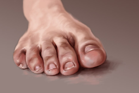 Foot study by artoftas