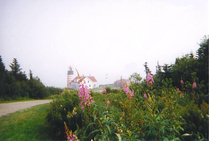 Lighthouse on a Foggy Morning by kuroinami