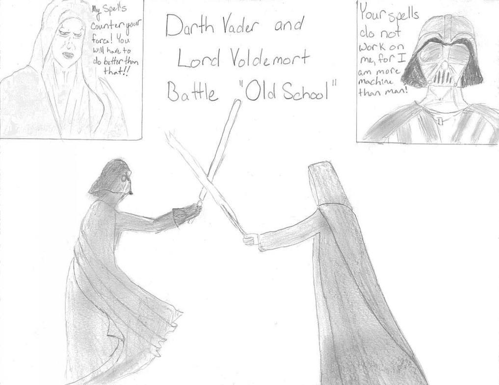 Darth Vader vs. Lord Voldemort by kuroinami
