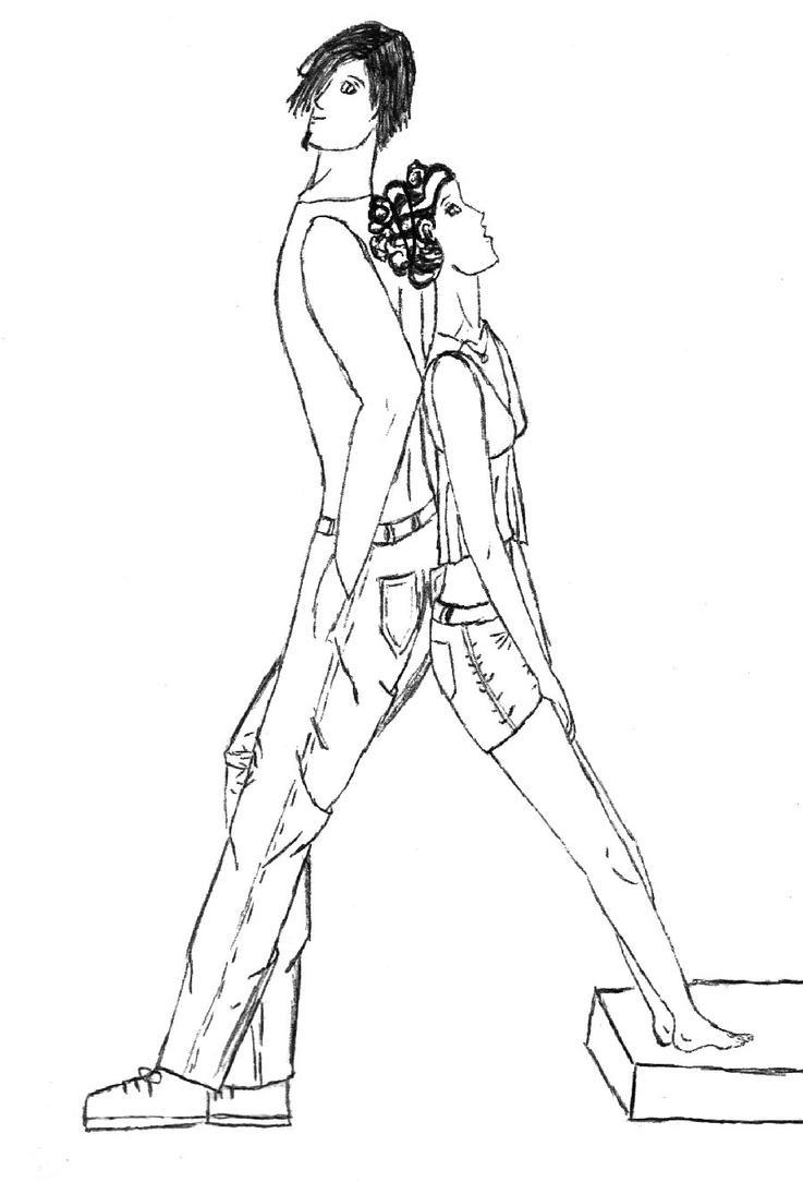 Modern Mesiyeru and Kiyune by kuroinami