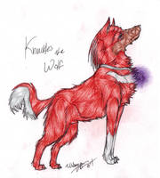 .2010. Knuckles the Wolf by MintChiip