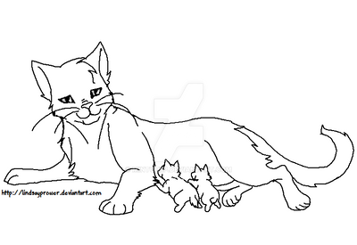 warrior cat cartoon coloring pages - photo#16