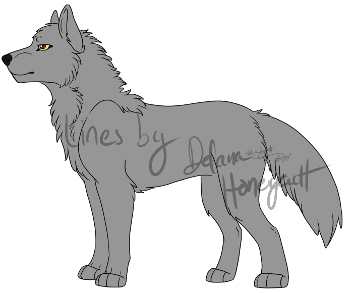 Wolf Lineart : Wolf lineart psd version by lindsayprower on deviantart