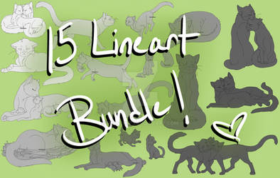 Warrior Cats - 15 Lineart Bundle