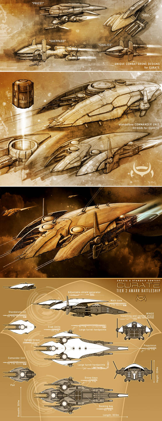 CURATE - amarr battleship by Nexusdesigner