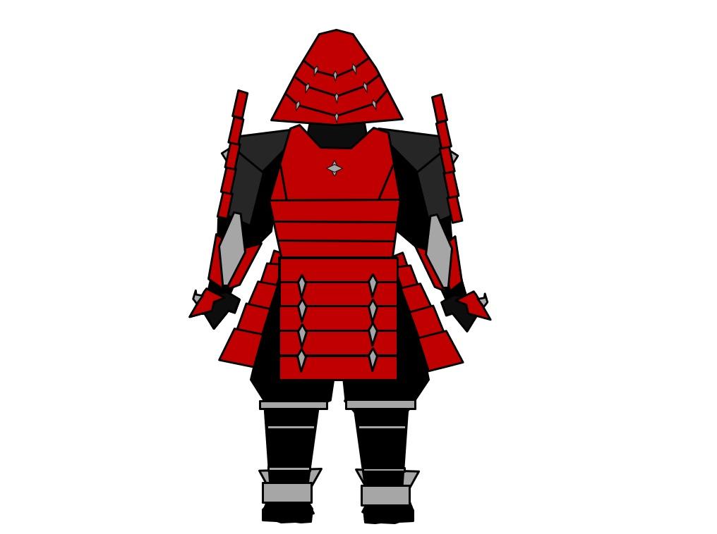 Samurai Warframe Renji Back by Aaronj-c