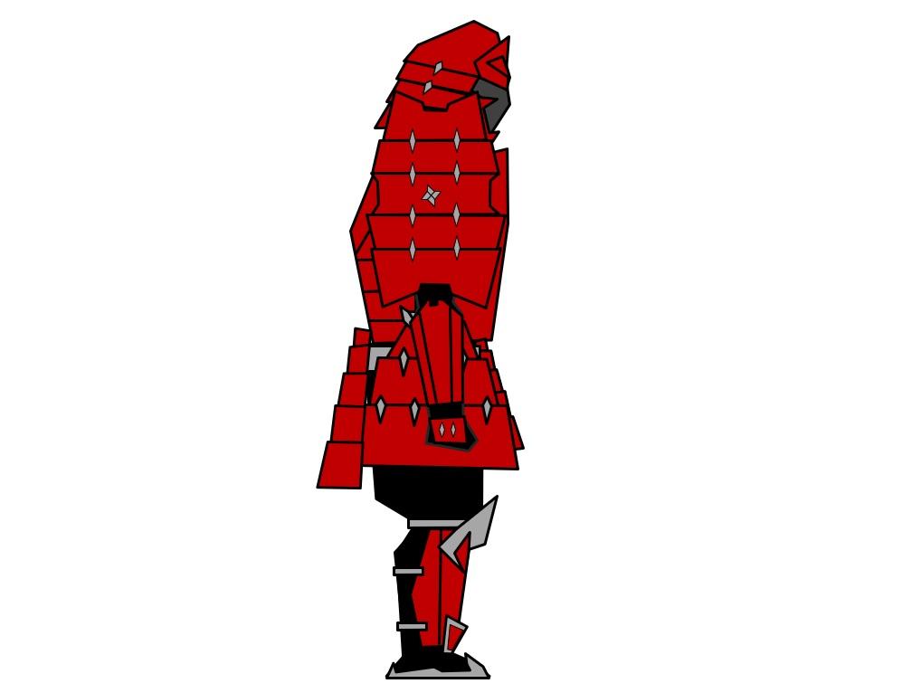 Samurai Warframe Renji Side by Aaronj-c