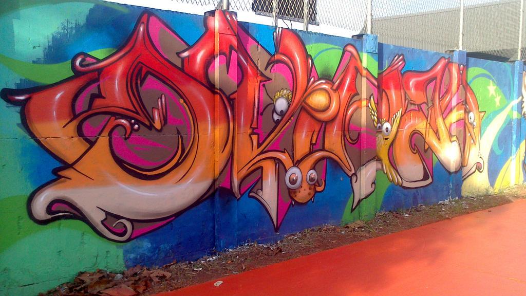 Graffiti in World Cup Brazil 2014 -5 by WgnrGui