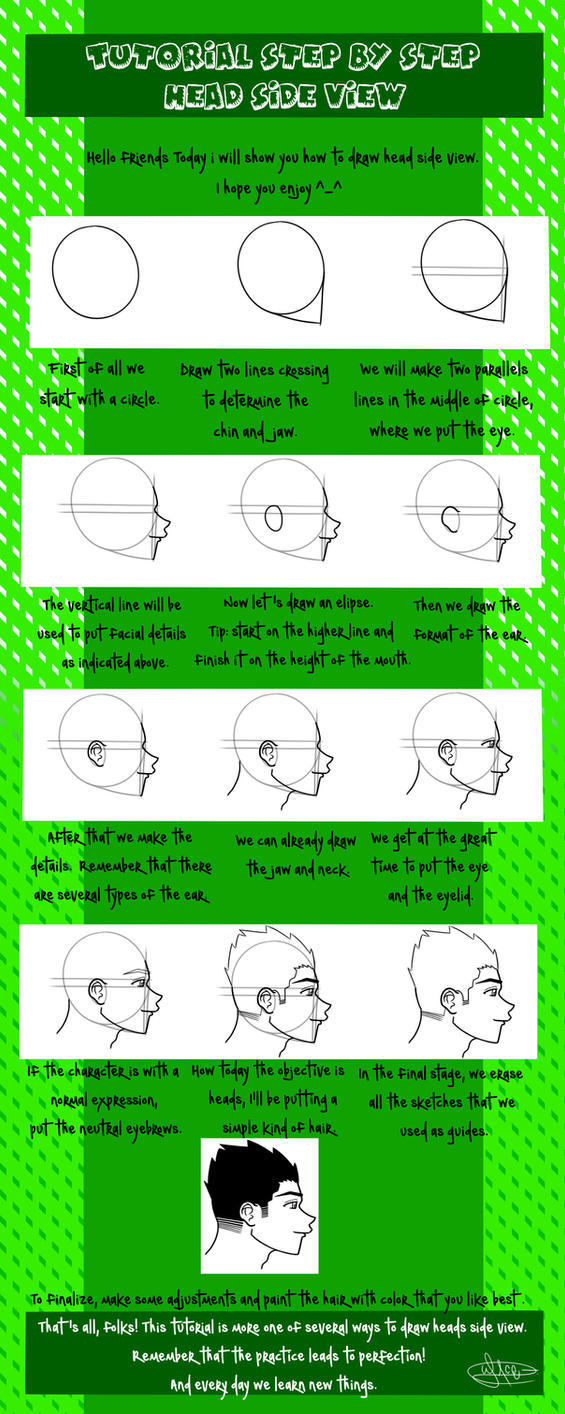 Tutorial head side view by WgnrGui