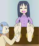 Yoshino Feet Tickling