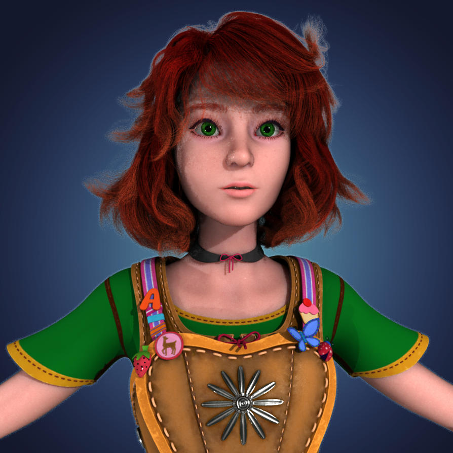 Amber 3D WIP 001 by Xiven