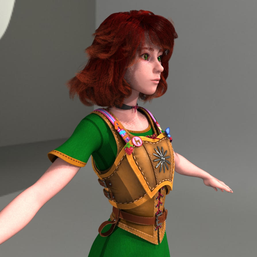 Amber 3D WIP 002 by Xiven