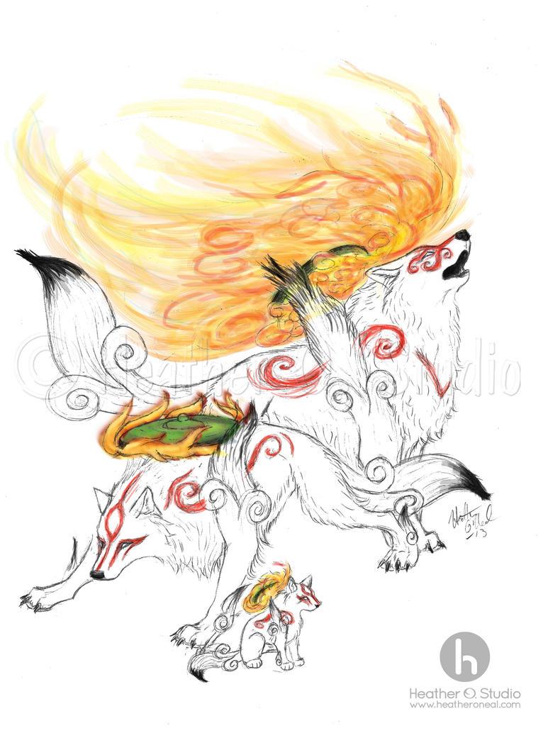Okami: Future Past Present Speedpaint by stormwhisper02