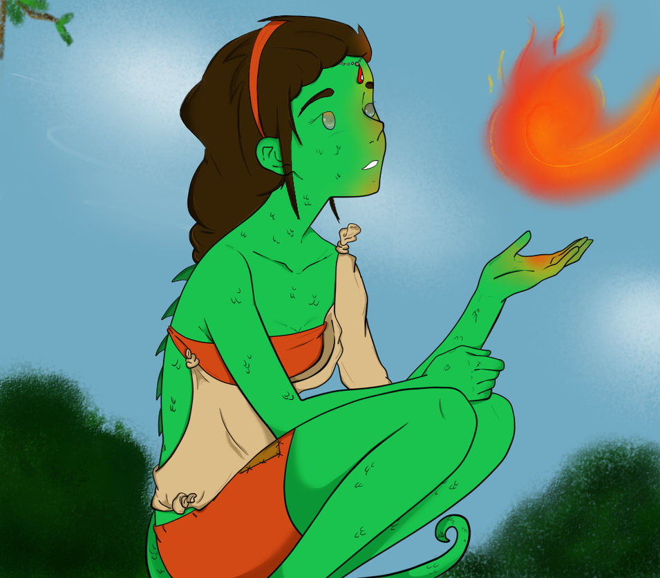 Iguana Royalty: Lana by BoboSan16