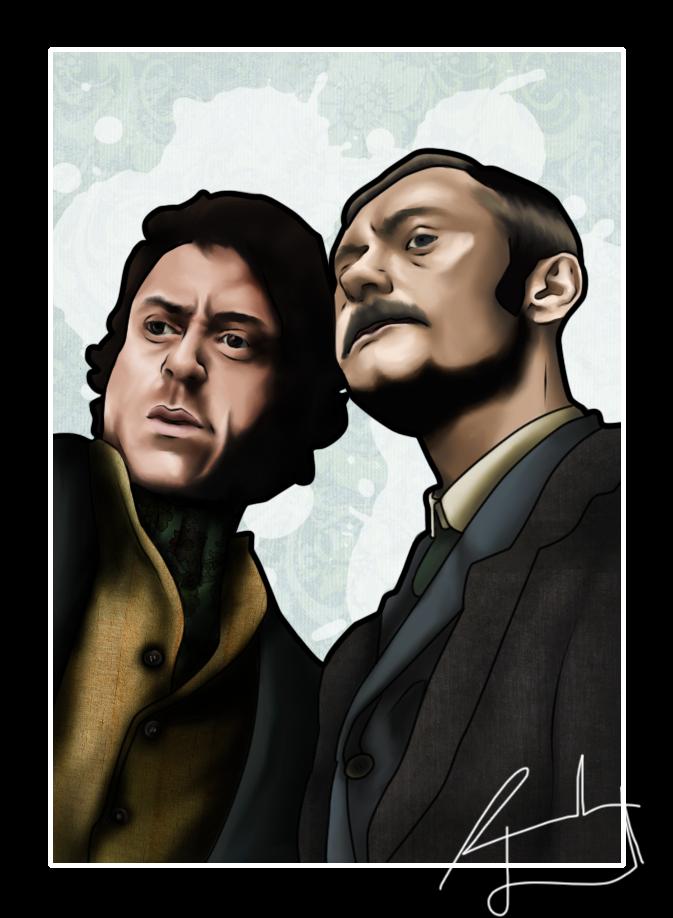 Holmes and Watson by FaerietaleWaltz