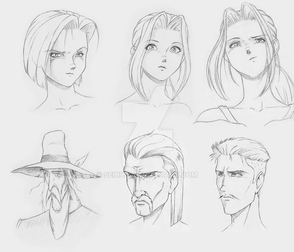 Head Female And Male By SEINICK On DeviantArt