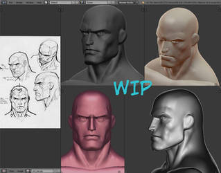 Head male -  Jim Lee Style - 3D by SEINICK