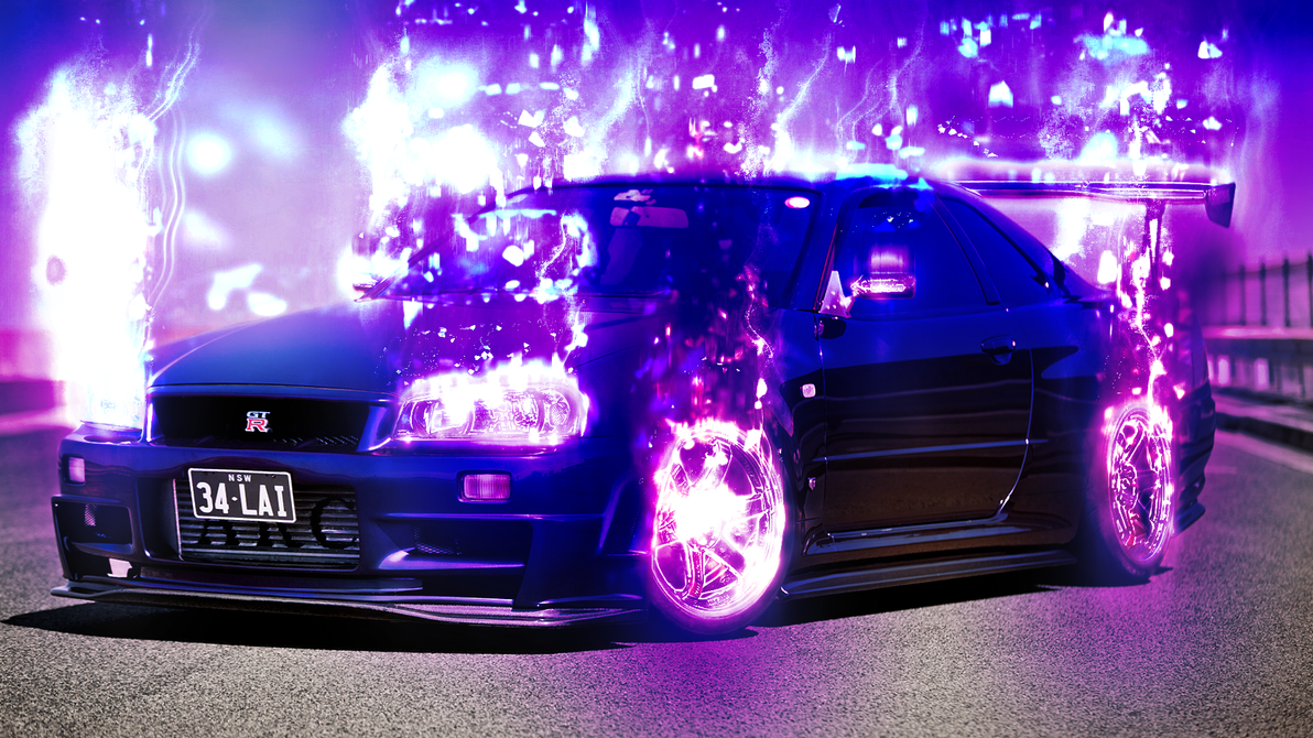 Modded Nissan Skyline GTR Wallpaper (Effects Only) by E-a-2 ... & Modded Nissan Skyline GTR Wallpaper (Effects Only) by E-a-2 on ...