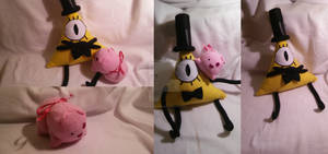 Bill Cipher and Waddles ^^ by MedisEclair