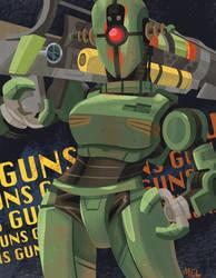 Kleo's got GUNS! by railroad-blues