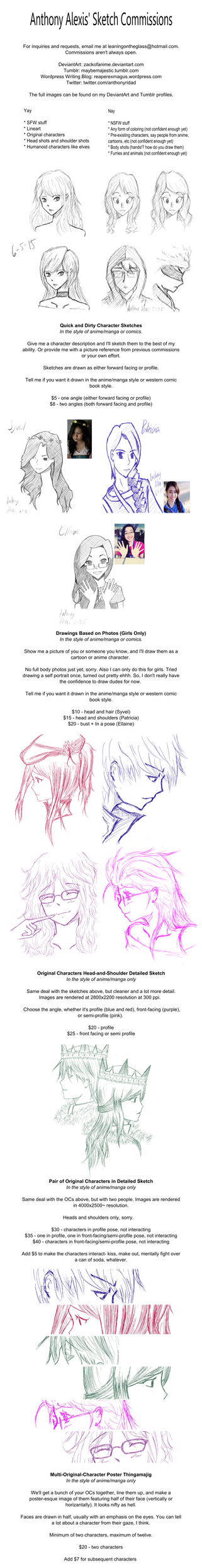 Sketch Commissions Info by zackofanime