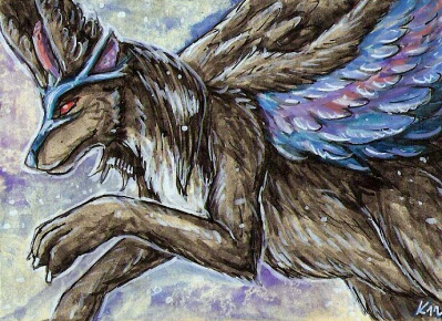 aceo Mistress Of Air by Kirsch-vanderWit