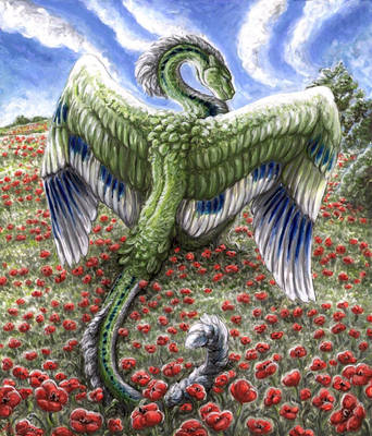The Guardian of Scarlet fields by Kirsch-vanderWit