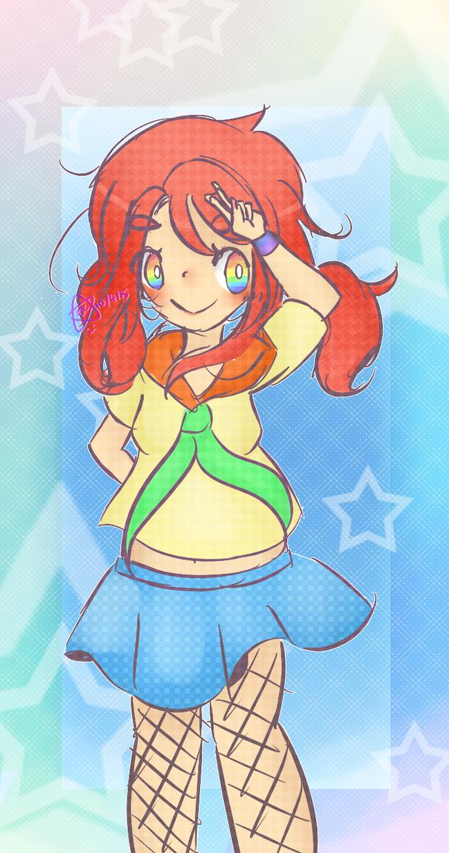 [Rainbow Sailor Girl] by LPSCarman