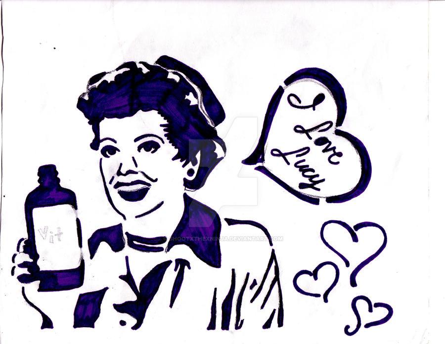 I Love Lucy Stencil by shootxthexninja on DeviantArt