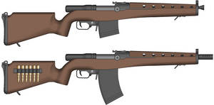 Rifle, Automatic, 7.62x54mmR, Mark IV Model 1943 by Sev-777