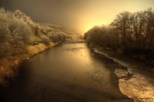 Umatilla River Freeze by adamsimsphotography