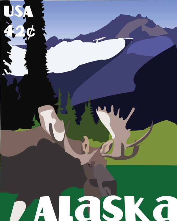 Alaska Stamp by nasama1