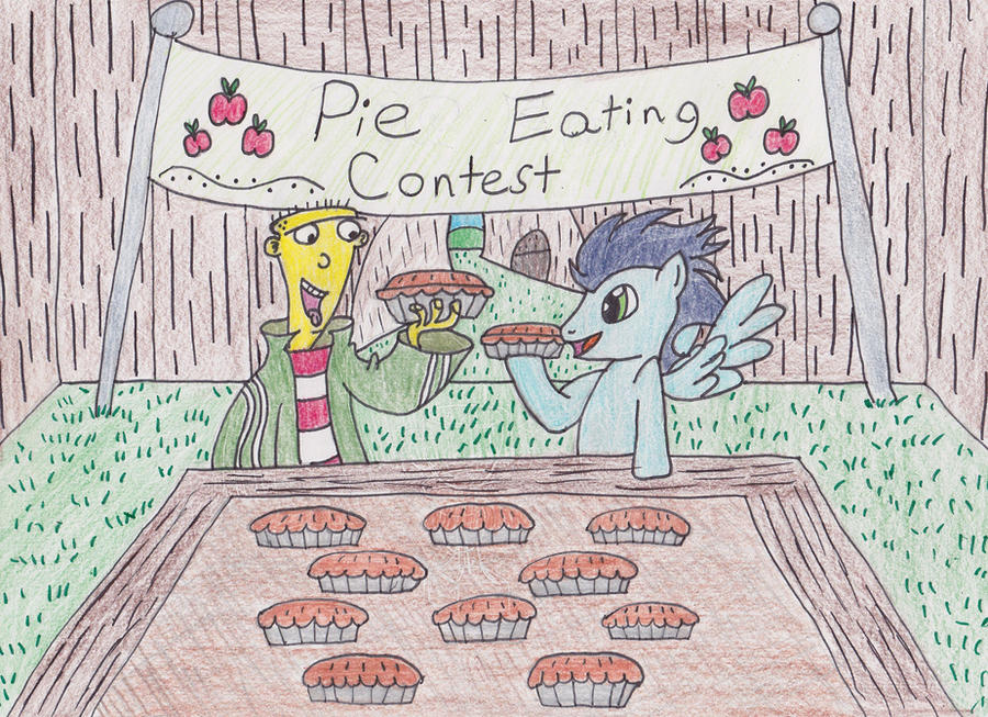 The Pie Eating Contest... by DarkKnightWolf2011