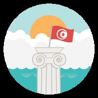 Tunisian Tourism app flat icon - sub1