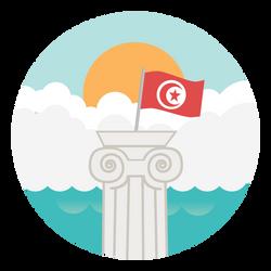 Tunisian Tourism app flat icon - sub1 by Fakedeath01