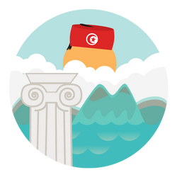 Tunisian Tourism app flat icon - sub2 by Fakedeath01