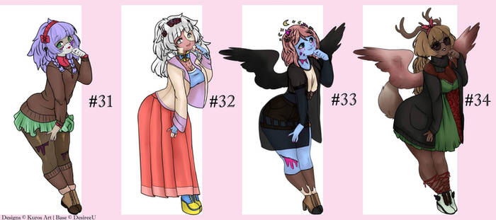 Adopts Nr 31 - 34 (4|4 open)
