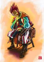 Iggnite, gnome fire sorceror by Rammbolt