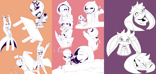 Patreon rewards: Sketch pages by CyaneWorks