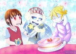 Comm: Weaver bday party by CyaneWorks