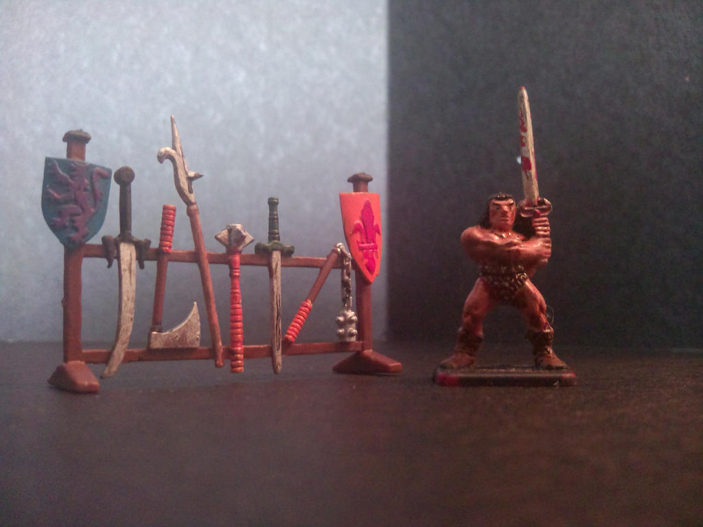Weapon Rack And Barbarian Mini From Hero Quest By Coldest Orchestra