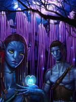 Neytiri and Jake by SaraForlenza